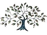 Formano Wanddeko Baum Blätter aus Metall Mehrfarbig 42 x 62 cm