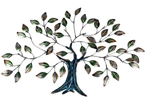 Formano Wanddeko Baum Blätter aus Metall Mehrfarbig 42 x 62 cm -