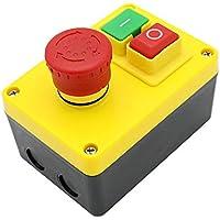 KEDU KJD17D-2 Start Stopp Sicherheitsschalter Magnetschalter 220V 16A Macht Aus Druckknopf Schalter Mit Separaten Emergency Stop-Knopf