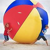 Súper Gran Gigante Pelota de Playa Inflable Playa Jugar Deporte Juguete de Verano Fiesta de Juego Bola al Aire Libre Diversión Globo para niños y Adultos,200cm