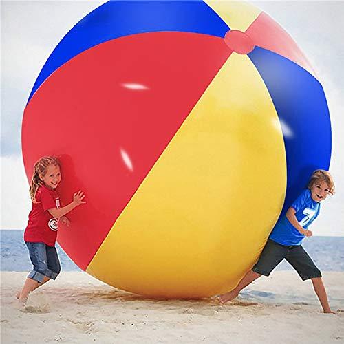 Super Big Giant Aufblasbarer Wasserball Beach Play Sport Sommer Spielzeug Spiel Party Ball Outdoor Fun Ballon für Kinder und Erwachsene,150cm