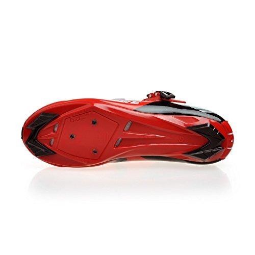 Unisexe respirant chaussures de vélo professionnels pour route et VTT SD-001 Noir / Rouge pour le Route