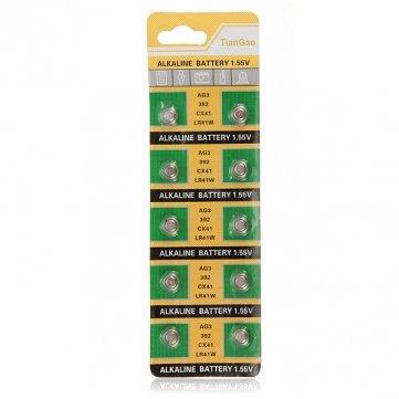 [Envoi GRATUIT 7~12 jours] 10 pcs AG3 392A CX41 LR41W alcaline montre pile bouton 1.55V // 10 pcs AG3 392A CX41 LR41W Alkaline Watch Button Cell Battery 1.55V