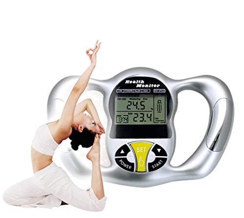 JUZEN Körperfett-Analysator, Hand-Fettmessgerät BIM-Tester Gesundheit Fat Thin Analyzer LCD, Rekordhöhe Gewicht Alter Stoffwechsel Geschlecht