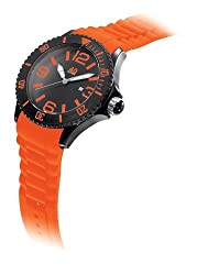 40Nine Mens 40NINE01/BLACK/TANG Extra Large 50mm Analog Display Japanese Quartz Orange Watch