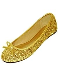official shop presenting cozy fresh Amazon.co.uk: Yellow - Ballet Flats / Women's Shoes: Shoes ...