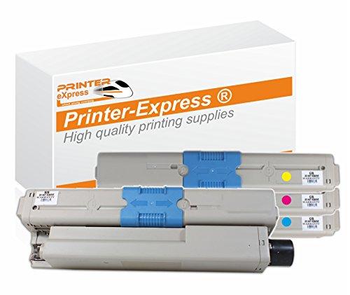 Printer-Express XL Toner 4er Set ersetzt OKI 44469803 44469706 44469705 44469704 Toner...