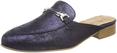 Leder-pantolette Metallic (Tamaris Damen 27316 Pantoletten, Blau (Navy Metallic), 37 EU)