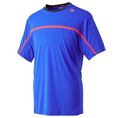 Wilson Herren T Shirt Summer Colorblock Crewneck Blue Iris/Coal/Neon Red