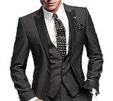 GEORGE BRIDE Herren Anzug 5-Teilig Anzug Sakko,Weste,Anzug Hose,Krawatte,Tasche Platz 002,XL