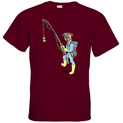 getshirts - Daedalic Official Merchandise - T-Shirt - Deponia Doomsday - McChronicle Burgundy