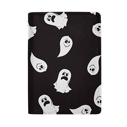 Ghost Character Expressions Blocking Print Passinhabers Hülle Reisegepäck Passport Wallet Kartenhalter Aus Leder Für Männer Frauen Kinder Familie (Ghost Buster Kostüme)