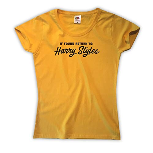 Outsider. Damen If Found Return to Harry Styles T-Shirt - Gelb - Small