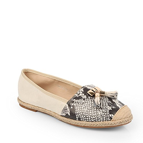 Ideal Shoes, Ballerinas, bi-Material, Ginia Weiß - weiß