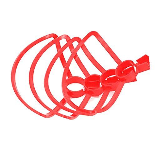Preisvergleich Produktbild Bescita 4PCS Propeller Stützen Schutz Stoßdämpfer Schnelle Freigabe Snap an für DJI Spark (Rot)