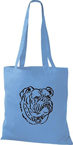 ShirtInStyle surf blue Tiere Motive Lustige diverse Züchter Rasse Stoffbeutel Farbe Hunde Hund rZxPrvF