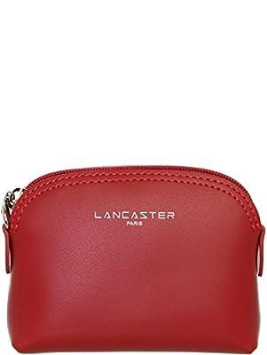 Lancaster - Porte monnaie Lancaster Constance en cuir ref_lan39940-rouge-11*8*3.5