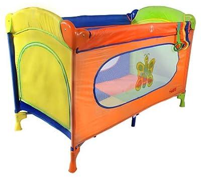 Cuna de viaje - Cunas y camas - Cuna plegable - Cuna infantil - Travel Cot ARTI Basic Fresh Butterfly Rainbow