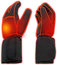 Rabbitroom Mens Winter Electric Heated Gloves AA Battery Power Heating Gloves Warm Thermal Gloves Hiking Skiin