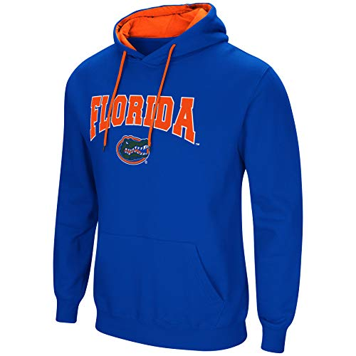n Cold Streak Dual Blend-Fleece Kapuzenpullover Sweatshirt mit Tackle Twill Bestickt Teamname und Logo-Team Farben, Herren, Florida Gators-Blue, XXX-Large ()