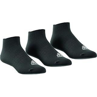 Adidas Men Performance No-Show Thin Socks (pair Of 3) - Black/Black/Black, Size 39 - 42