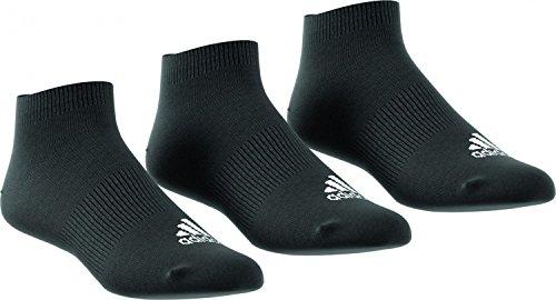 adidas Unisex Trainingssocken Performance extrakurze dünne 3 Paar, Schwarz, 43-46