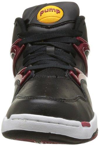 Reebok Pump Omni Lite, Baskets mode homme Noir (Black/White/Rio Red)