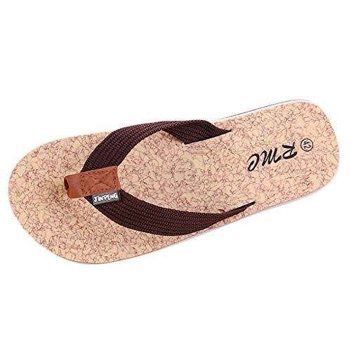 Herren Riemchensandalen Mode Flache BeiläUfige Sandalen Strand Sommer Flache Schuhe Erwachsene Brasil Zehentrenner Herren Shower Dusch Badeschuhe Hausschuhe Flip Flops