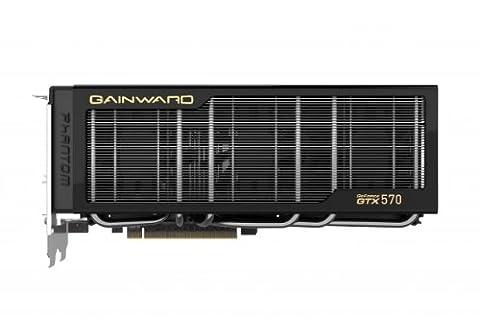 Gainward GeForce GTX570 Phantom Grafikkarte (PCI-e, 1280MB, GDDR5 Speicher, Dual-DVI, Mini-HDMI)