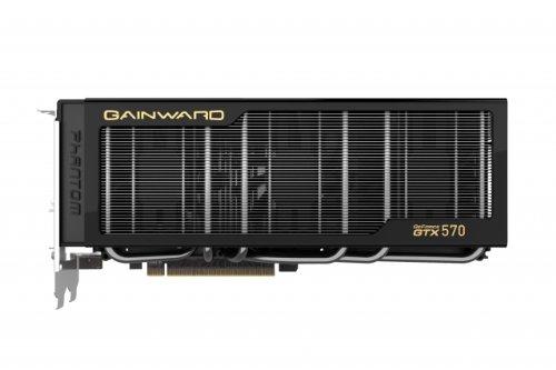 Gainward GeForce GTX570 Phantom Grafikkarte (PCI-e, 1280MB, GDDR5 Speicher, Dual-DVI, Mini-HDMI) Nview Multi-display