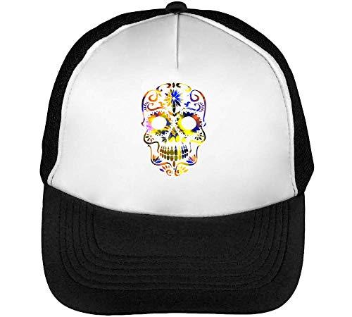 Beautiful Death Tripy Acid Skull Gorras Hombre Snapback Beisbol Negro Blanco