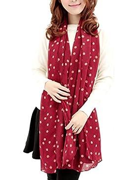 bufandas, RETUROM Nueva chica con estilo largo de seda suave bufanda de gasa envoltura bufanda de mantón de polka...