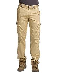 Krystle Khakhi Men's Cotton Cargo Pants