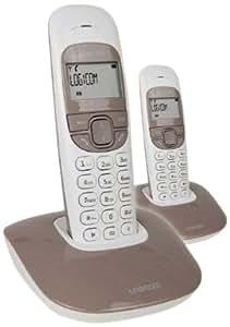 Logicom SOLY 250 SOFT Téléphone sans fil DECT Mains-libres + 1 combiné supplémentaire Taupe