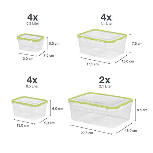 Gourmet Maxx 02824 Storage Boxes Click Storage Boxes | BPA Free | 28 Piece Microwave, Freezer and Dishwasher safe, BPA Free