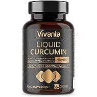 Liquid Curcumin - 60 Capsules | 185x Turmeric & Curcumin Bioavailability - Ultra Bioavailable | Liquid Capsules with 500mg NovaSOL per Capsule | Ultimate Curcuminoid Supplement Made in UK
