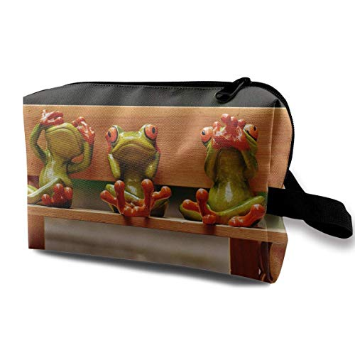 Funny Frogs Magic Makeup Bag Lazy Cosmetic Bag Portanle Travel Handbag