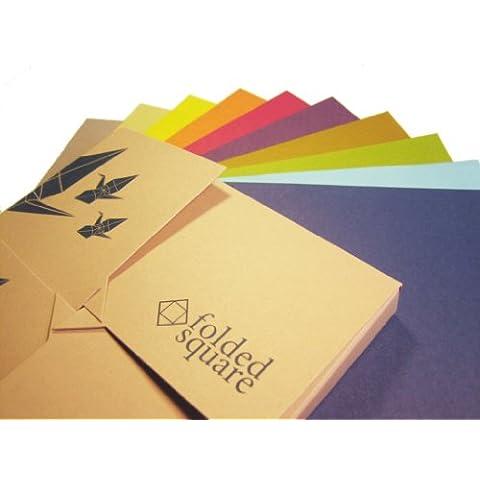 Conjunto de regalo de 100 hojas de papel para papiroflexia de colores Pantone - Colección de Origami Clásica