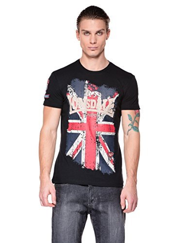 Lonsdale T-shirt Jacob, Black, XX-Large (Tallia Produttore: XX-Large)