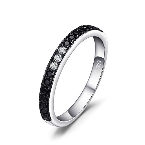 Jewelrypalace 0.25ct echte schwarze Spinell Channle Set Ring 925 Sterling Silber
