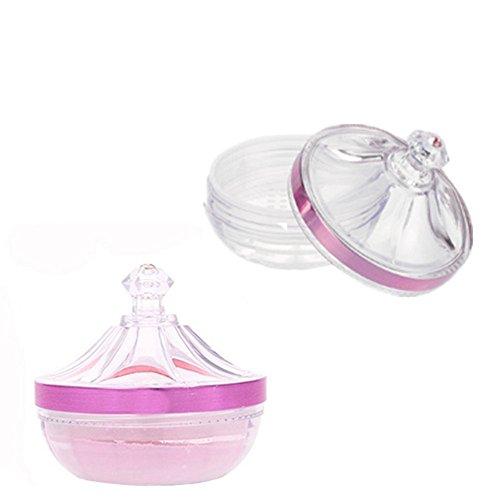 Vide réutilisable clair Château Style Acrylique Houppette Coque Maquillage Poudre libre Fond de teint Boîte à nourriture avec éponge Puff et Tamis DIY Bijoux Accessoires pour cadeau de Noël