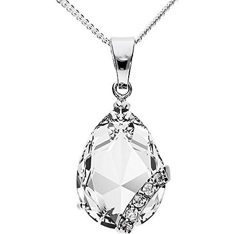 MYA art Damen Kette Halskette 925 Silber Tropfen mit Ornament