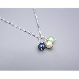 Perlen Anhänger - Anhänger mit Süßwasserperlen - 925 Silber - Beads-in-Fashion