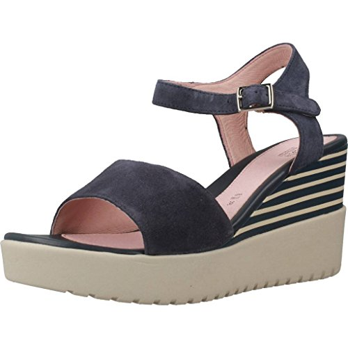 Stonefly Ely 5 Velour, Zapatos De Tacón Alto Con Plataforma Blue Woman (dark Denim 101)