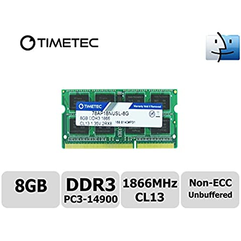 Timetec Apple RAM (78ap18nusl2r8 - 8 G) 8 GB DDR3 1866 mhz Apple iMac (finales de 2015 27