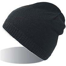 SNAPPY NERO BEANIE HAT cuffia cappello double