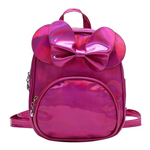 Lookhy Kindermode einfarbig Laserbogen Rucksack Handtasche Schulrucksack für Jungen Teenager - Skateboard - Kinderrucksack mit Laptopfach und Brustgurt für Schule -