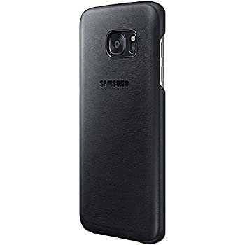finest selection 35821 6e524 Samsung Original Leather Cover for Galaxy S7 Edge - Black