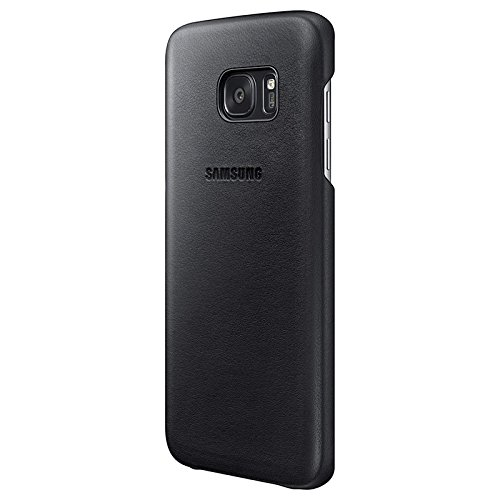 Samsung Leather Cover - Funda para Samsung Galaxy S7 Edge, color negro
