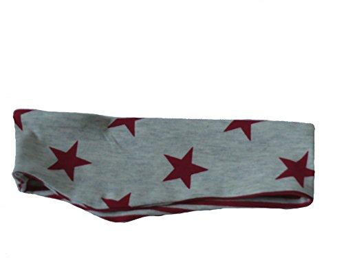 Fitzibiz Stirnband Baumwoll-Jersey, Sterne, Streifen, Motive, Uni (92, Beige/Rot (Mario Mädchen Outfit)